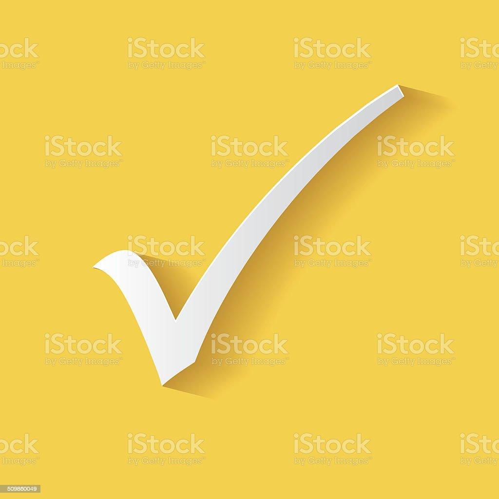 Check mark symbol,clean vector vector art illustration