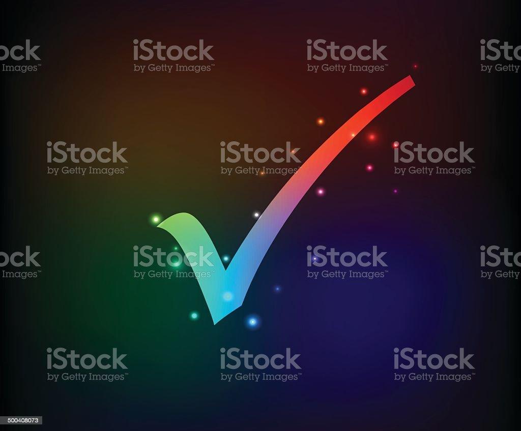 Check mark symbol,Rainbow vector royalty-free stock vector art