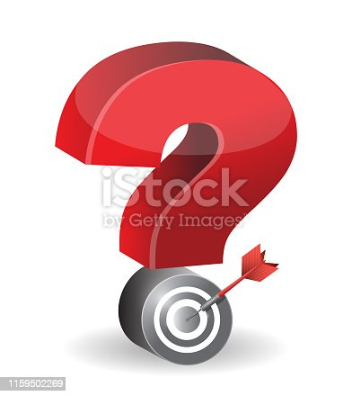 Check mark target illustration design over a white background