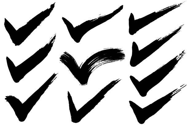 illustrazioni stock, clip art, cartoni animati e icone di tendenza di check mark. - controllo