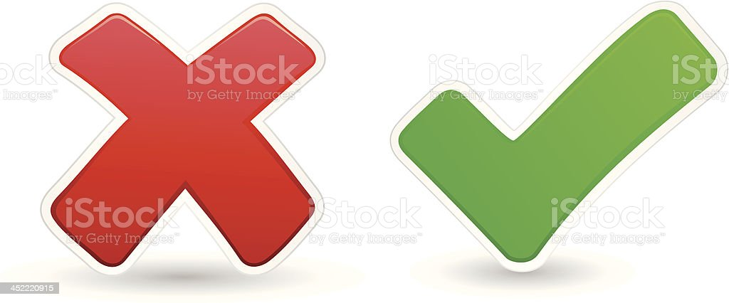 Check Mark royalty-free stock vector art