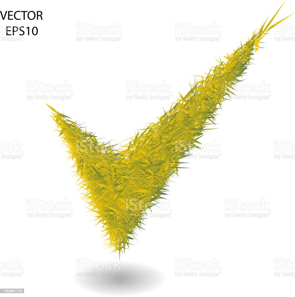 check mark vector art illustration