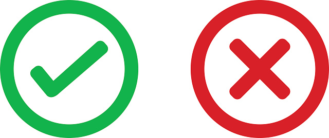 Check Mark Wrong Mark Icon Stock Illustration - Download Image Now