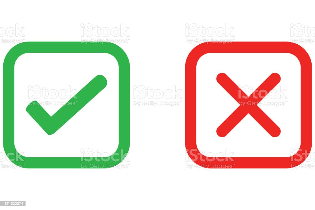 Check Mark Wrong Mark Icon Stock Vector Art More Images Of Check