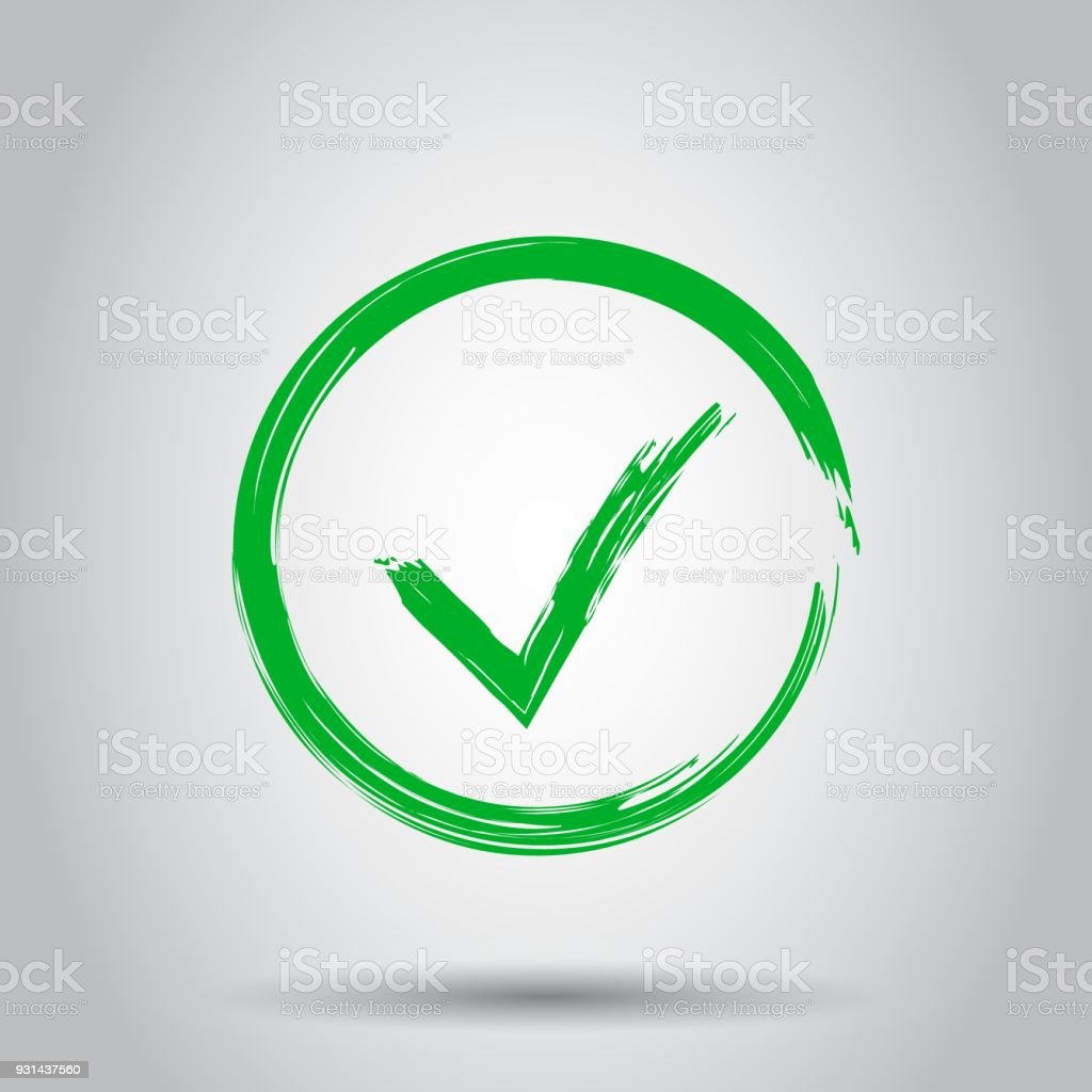 Marcas De Verificación Ok Icono De Aceptar Ilustración De Vector De ...