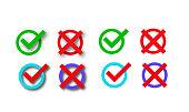 check marks set vector