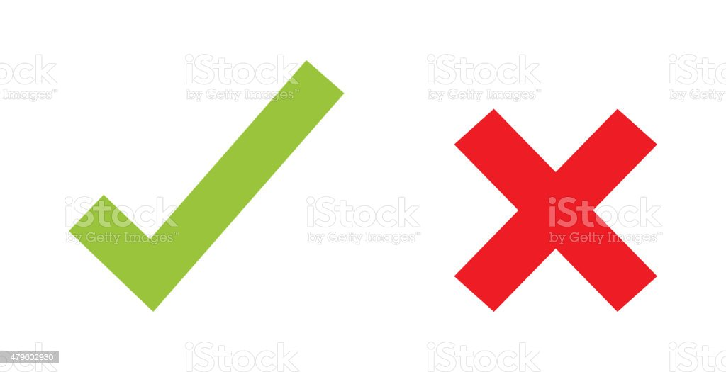 Check marks vector art illustration