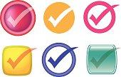 Check or Tick Symbol Vector Icon Set