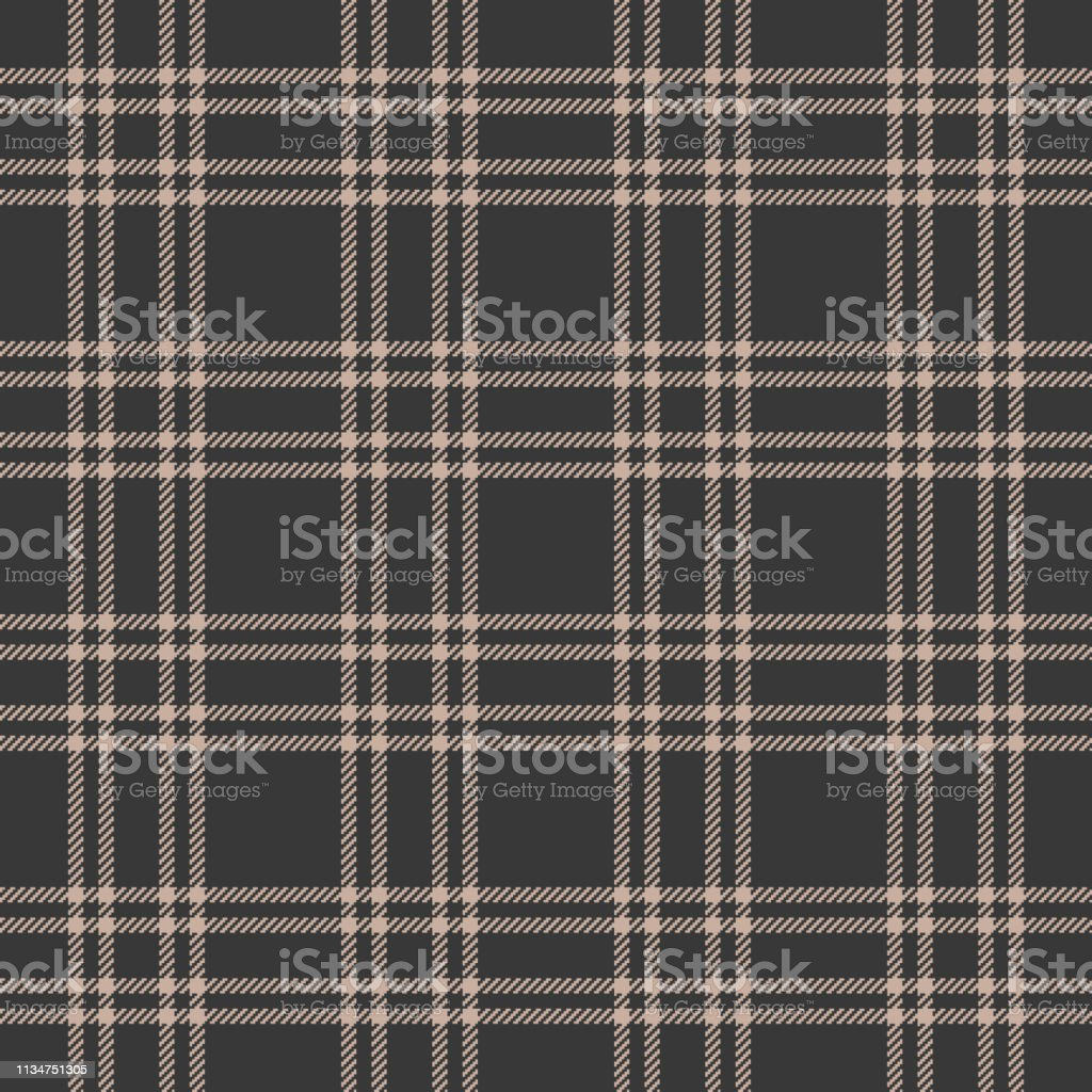 Check plaid pattern vector illustration in beige & grey. Seamless...