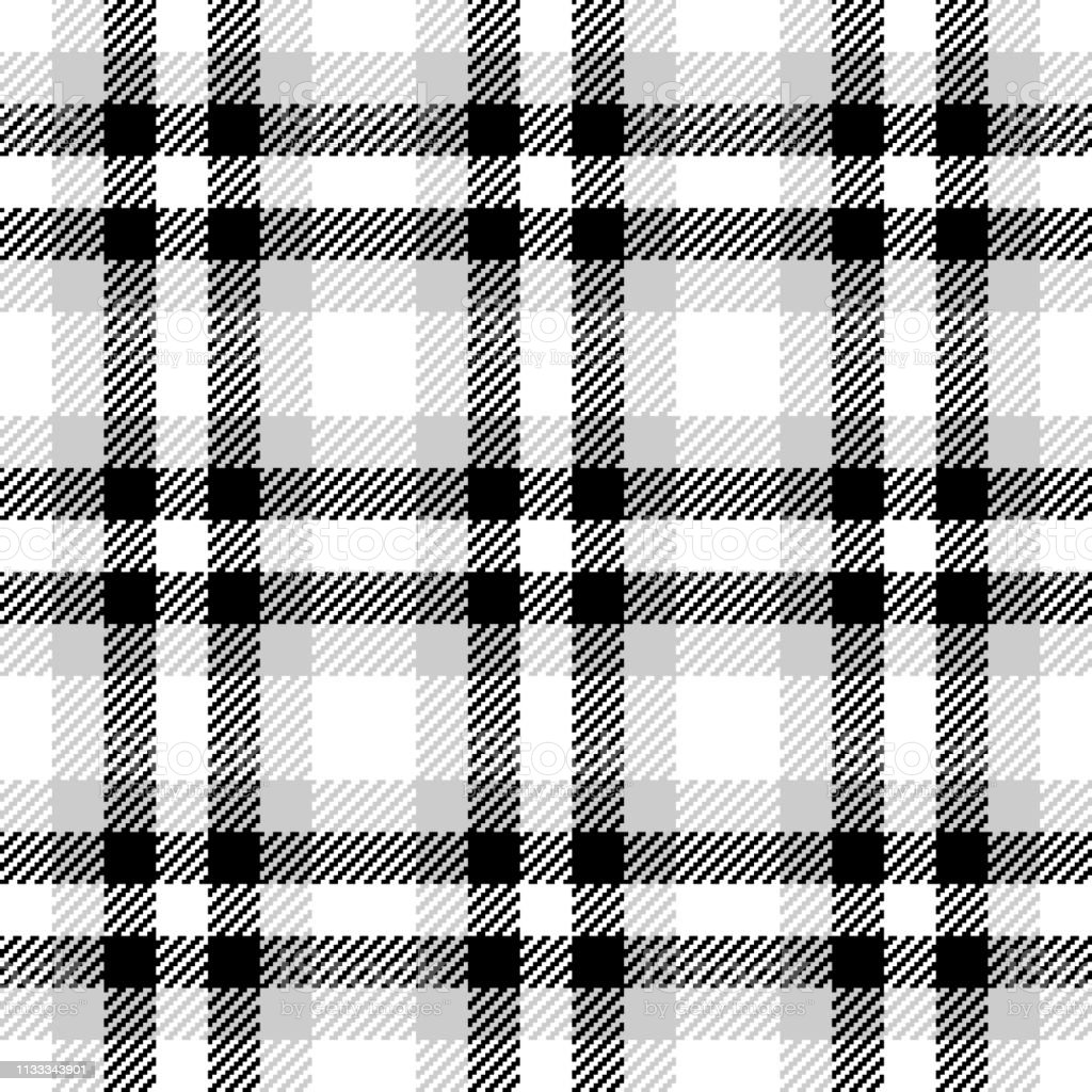 Check plaid vector pattern. Seamless tartan pixel check plaid in...