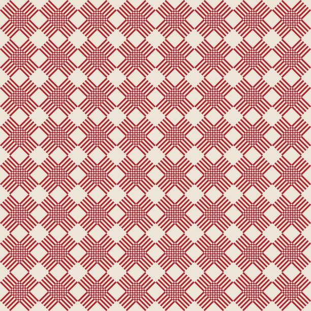 Check seamless pattern, cage background vector art illustration