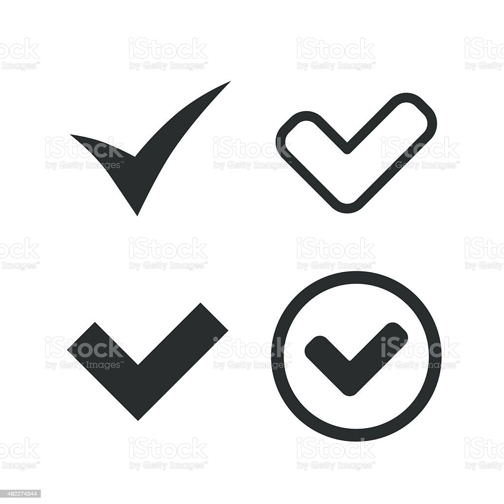 Check signs. Checkbox confirm icons vector art illustration