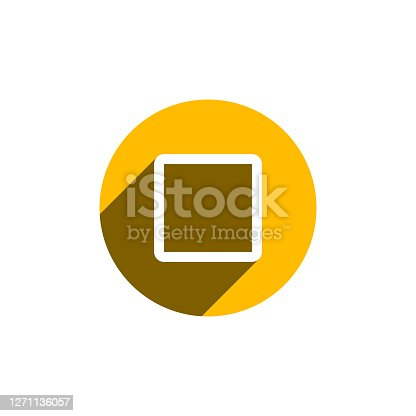 istock Checkbox, Unchecked icon illustration. Checkbox concept for modern mobile and web UI designs. 1271136057