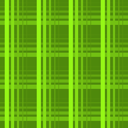 Checked green seamless pattern background, St Patrick's Day gift wrapping paper design, vector
