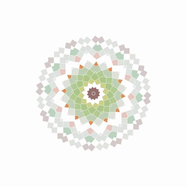 ilustrações de stock, clip art, desenhos animados e ícones de checked pattern icon - mosaicos flores