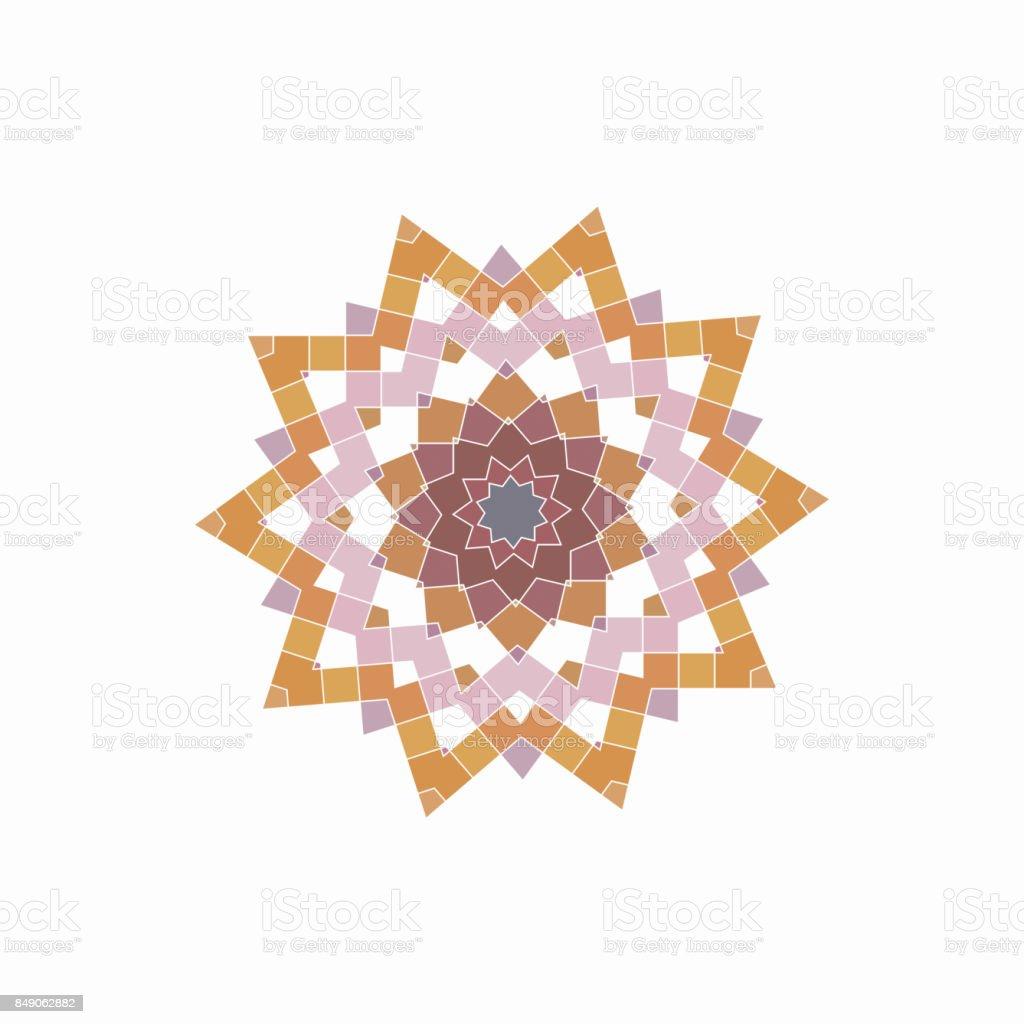 Checked pattern icon vector art illustration