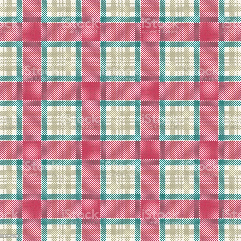 Checked seamless pattern royalty-free stock vector art