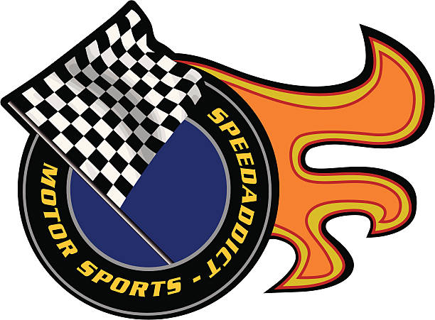 checker flag checker flag used in car racing indy racing league indycar series stock illustrations