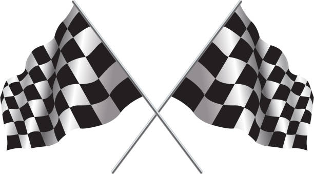 checker flag - finnish flag stock illustrations, clip art, cartoons, & icons