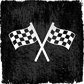checker flags on royalty free vector Background