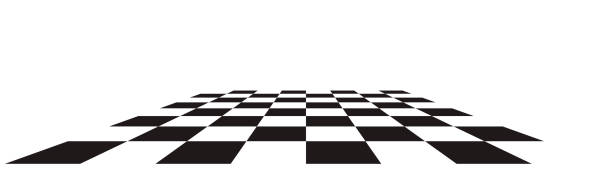 ilustrações de stock, clip art, desenhos animados e ícones de checkerboard, chessboard, checkered plane in angle perspective. tilted, vanishing empty floor. - xadrez