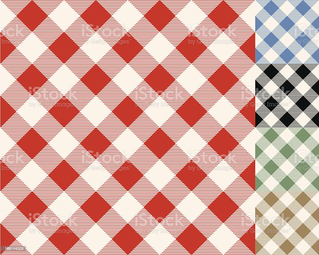 Checkerboard Tablecloth Seamless Pattern vector art illustration