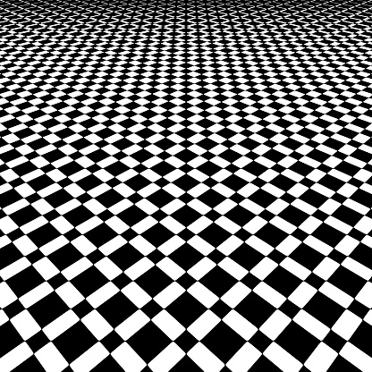Checkered Background Pattern with Dramatic Perspective