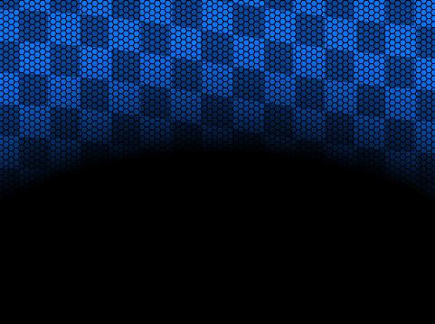 checkered blue frame