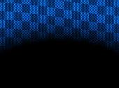 blue checkered flag top border frame design background