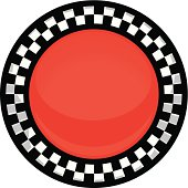 checkered button