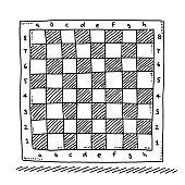 Checkered Chess Board Symbol Drawing