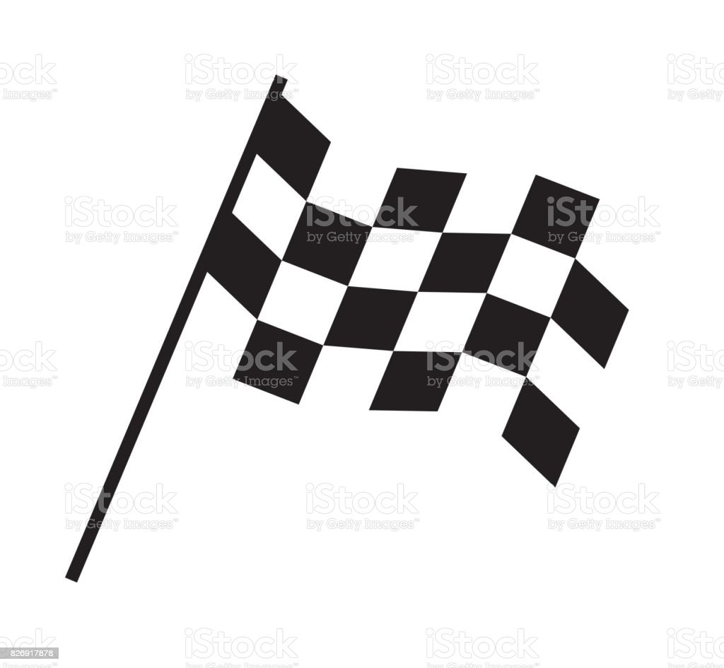 checkered flag design stock vector art more images of auto racing rh istockphoto com checkered flag vector clipart checkered flag vector eps