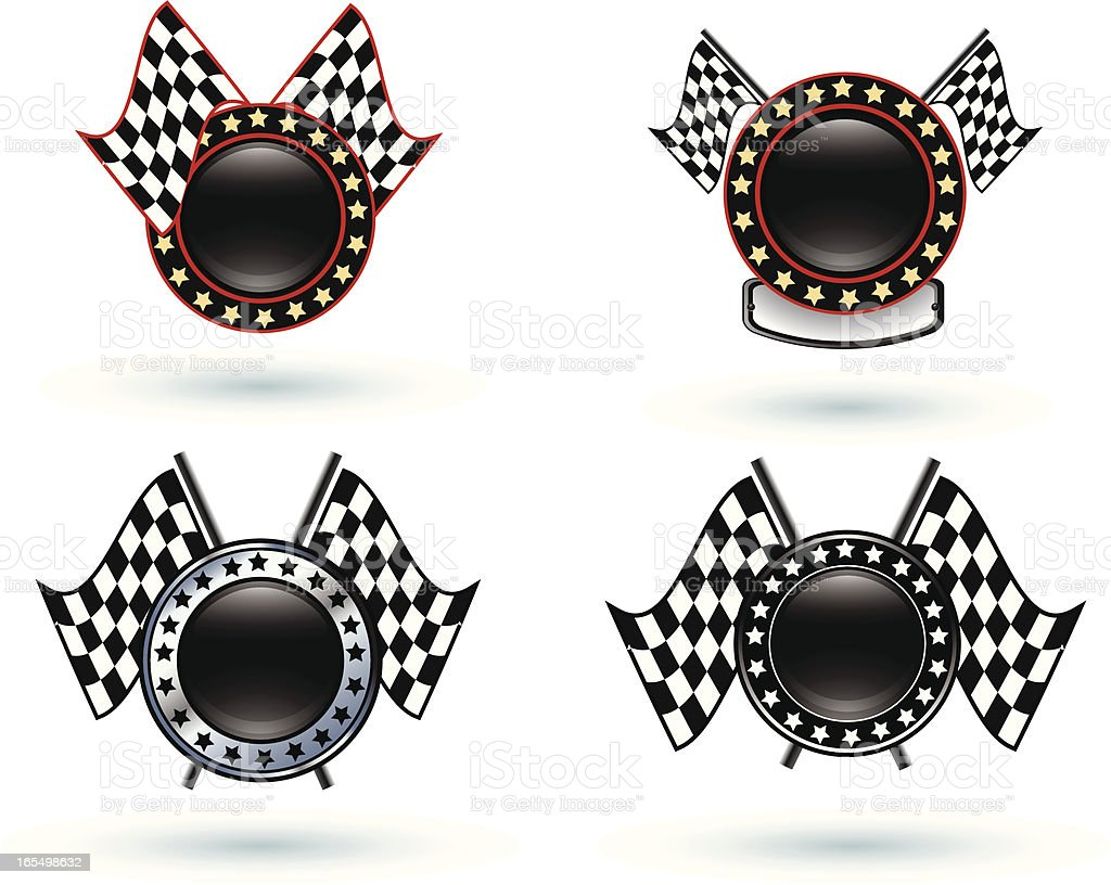 Checkered Flag Icons royalty-free stock vector art