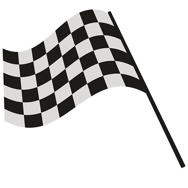 stockillustraties, clipart, cartoons en iconen met checkered flag racing - airport pickup