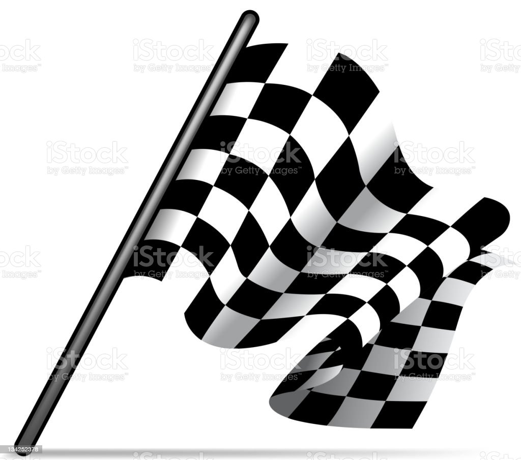 checkered flag royalty-free stock vector art