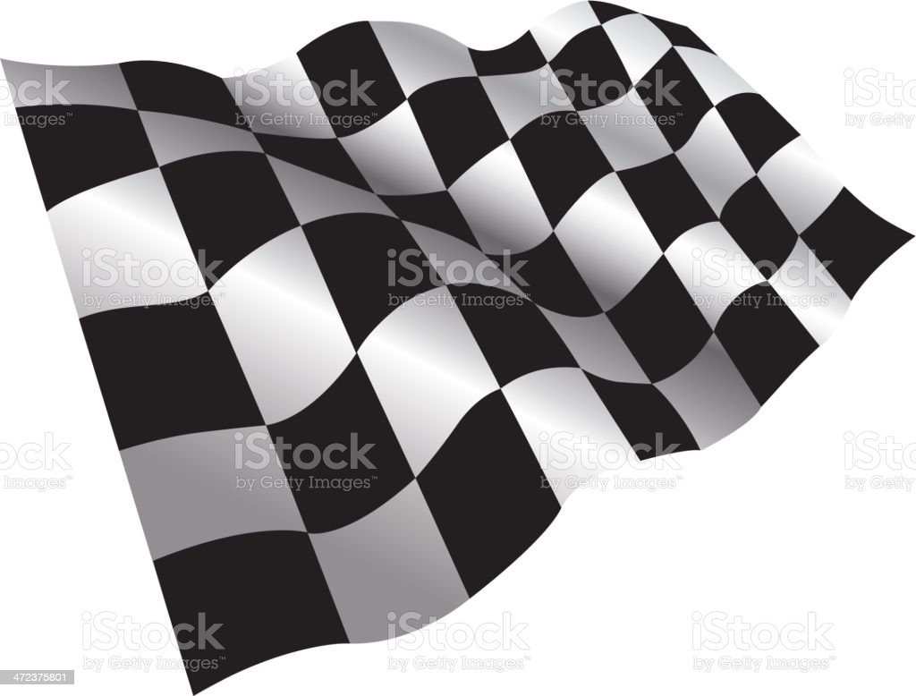 Checkered Flag vector art illustration