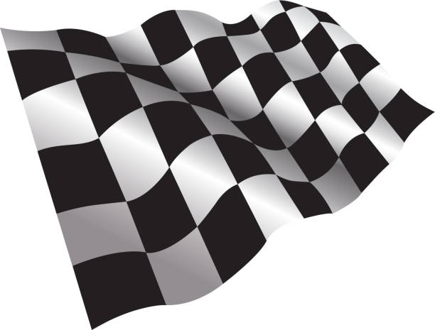 checkered flag - finnish flag stock illustrations, clip art, cartoons, & icons