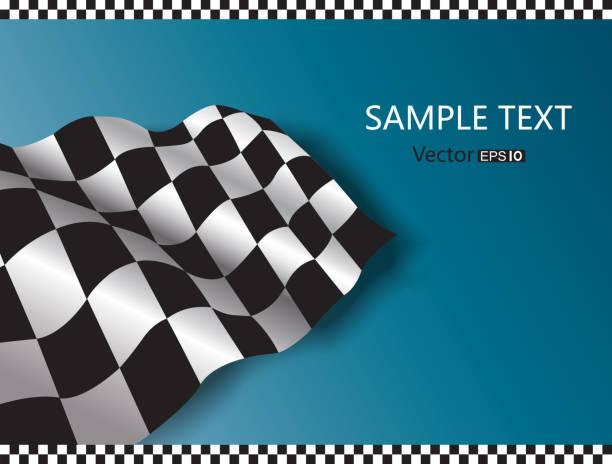 illustrazioni stock, clip art, cartoni animati e icone di tendenza di bandiera a scacchi - close up auto
