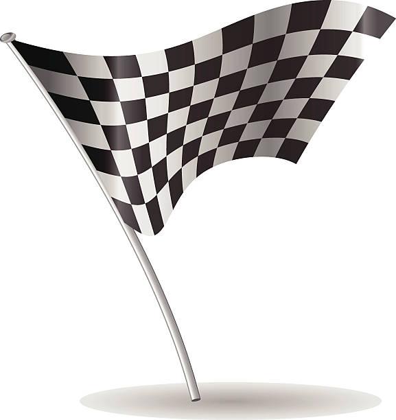 шахматный флаг вектор - formula 1 stock illustrations