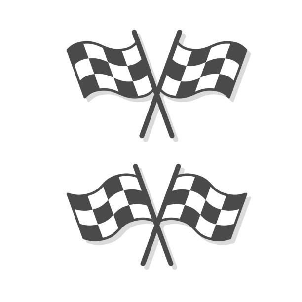 Checkered Flags set illustration Checkered Flags set illustration indy racing league indycar series stock illustrations