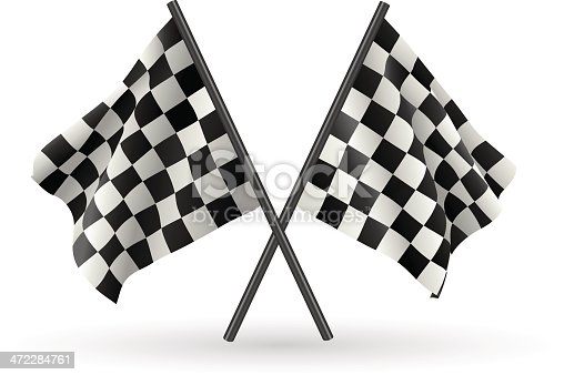 istock Checkered Flags 472284761