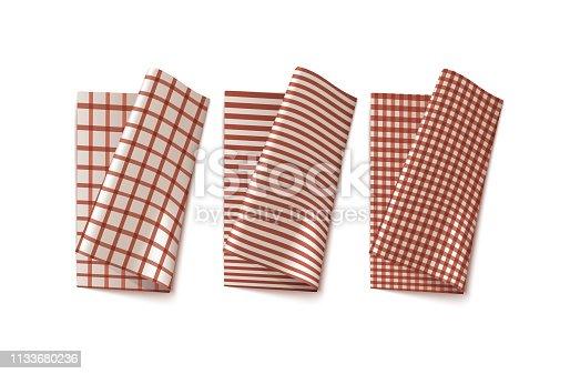 istock Checkered Kitchen Linen 1133680236