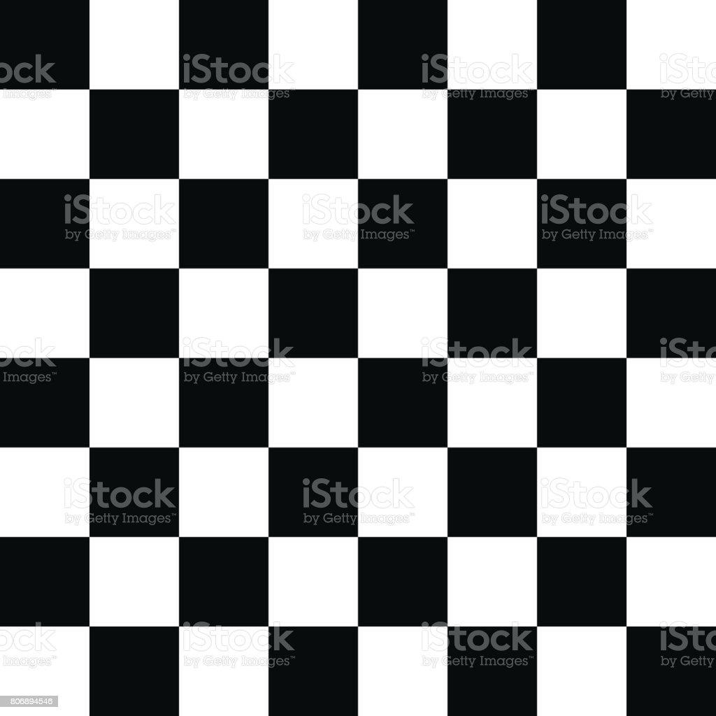 Checkered Pattern Black and White vector art illustration