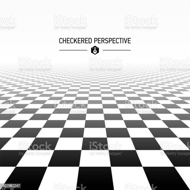 Fond Damier Perspective Vecteurs libres de droits et plus d'images vectorielles de Architecture