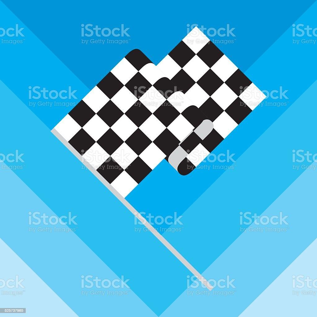 Checkered Race Flag vector art illustration