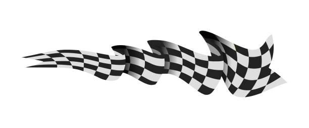被隔離的格子的種族旗子向量例證在白色 - formula 1 幅插畫檔、美工圖案、卡通及圖標