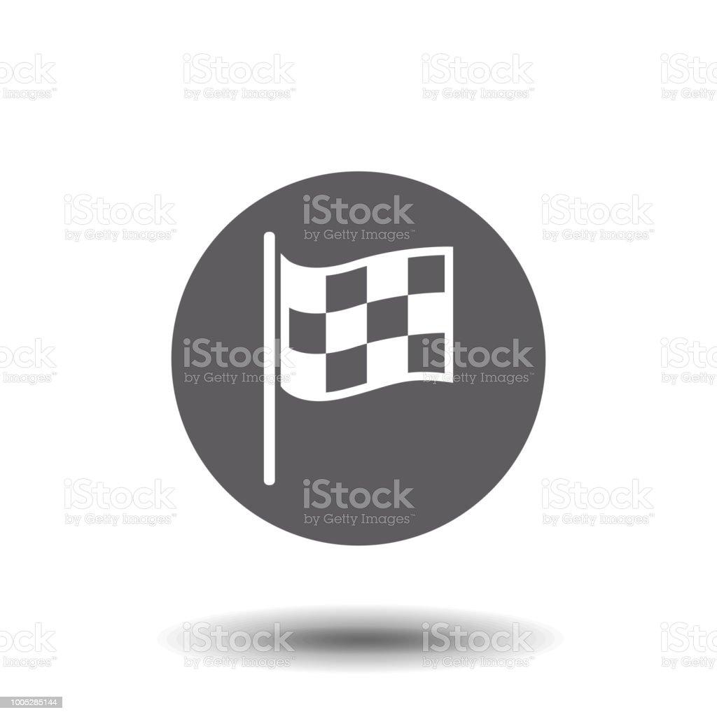 Checkered Racing Flag Icon Starting Flag Auto And Moto Racing Sport