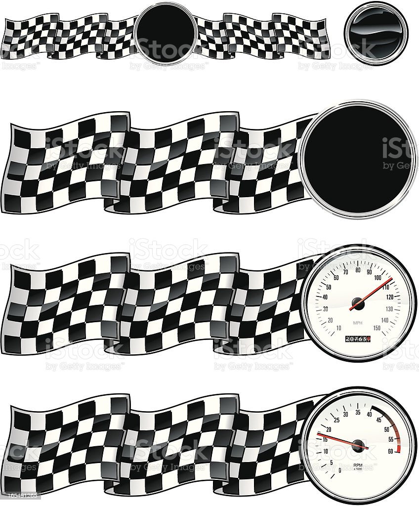 checkered ribbons royalty-free stock vector art