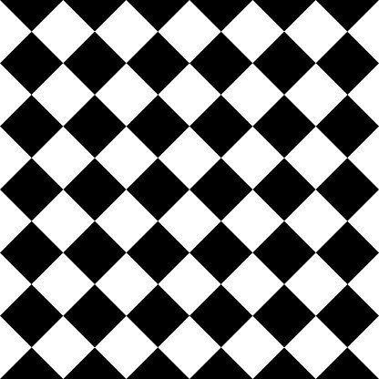 Checkered seamless background pattern of squares in diagonal arrangement