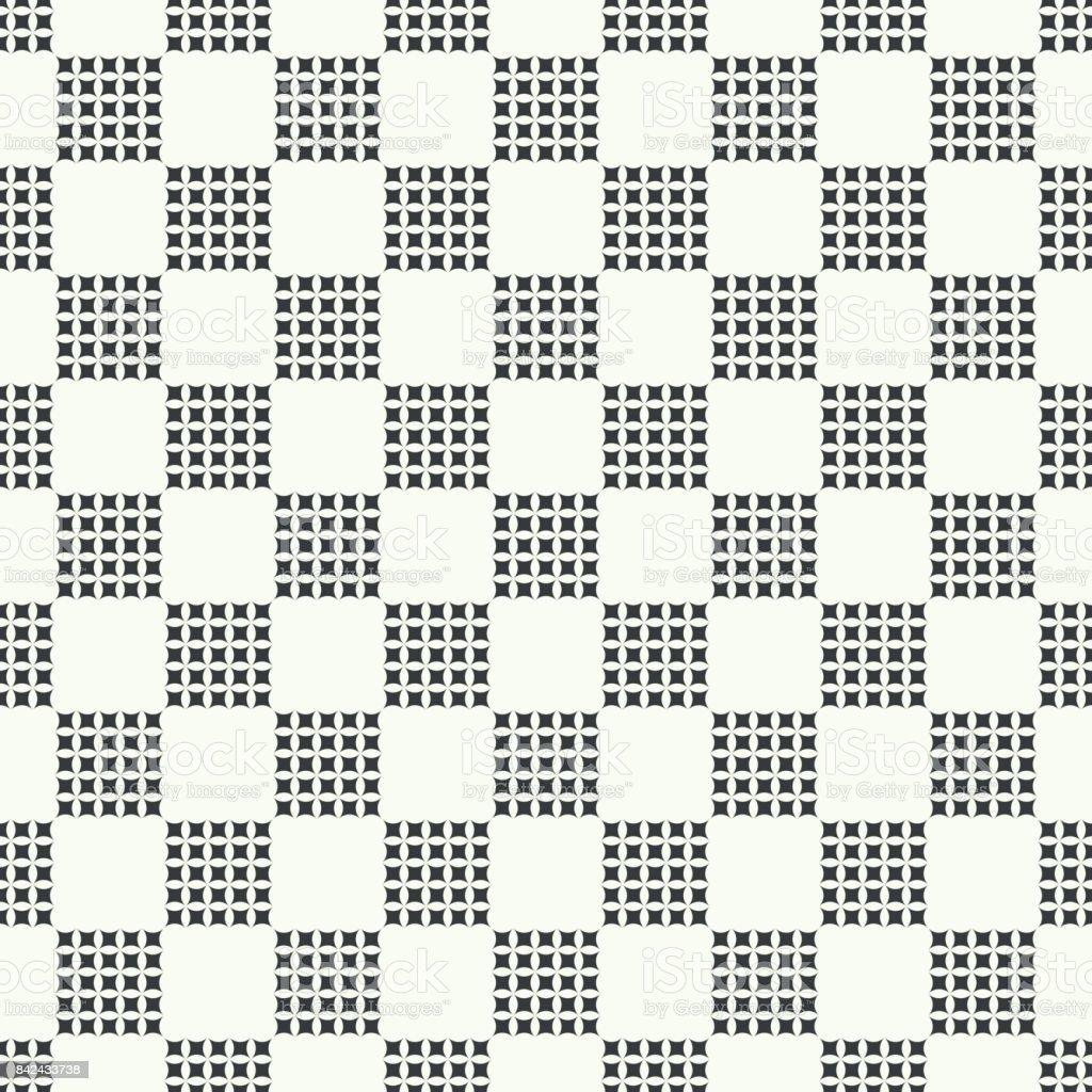 Checkered seamless pattern vector art illustration
